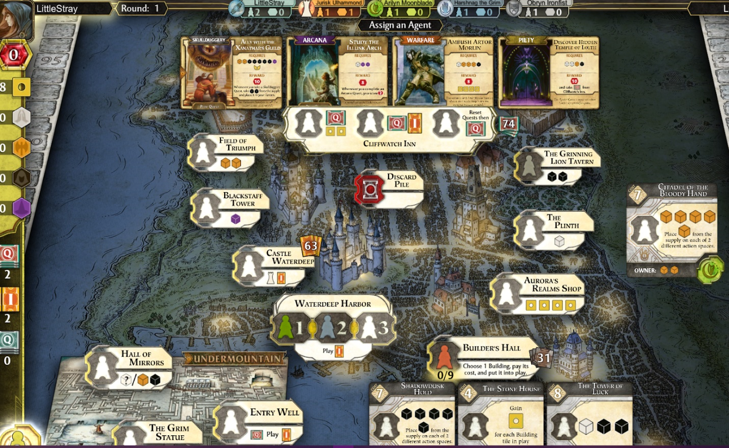 BGB Lords of Waterdeep Steam Screen